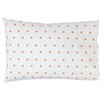 Oragnic Little Prints Orange Triangle Pillowcase