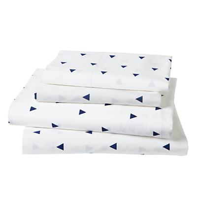 Queen Little Prints Sheet Set (Blue Triangle)