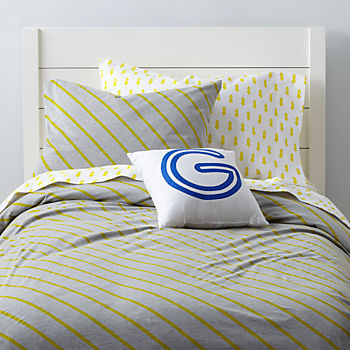 little prints kids bedding yellow