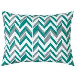 Little Prints Sham (Green Zig Zag)