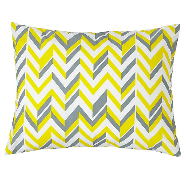 Little Prints Sham (Yellow Zig Zag)