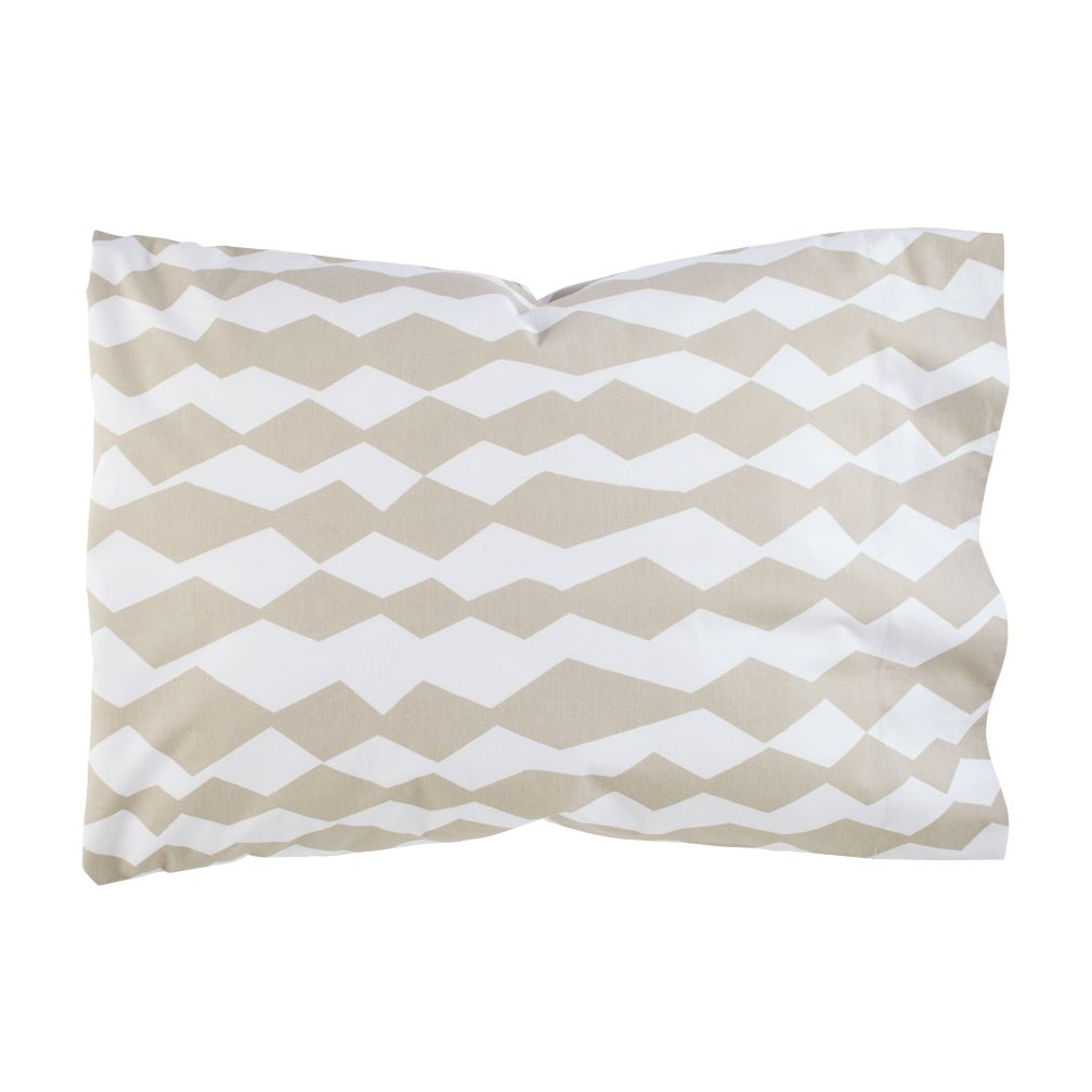 Mod Botanical Pillowcase (Grey Diamond)