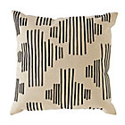 Black Mod Botanical Throw Pillow