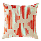 Red Mod Botanical Throw Pillow