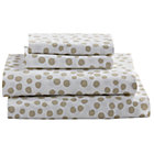 Full Grey Dot Mod Botanical Sheet Set.
