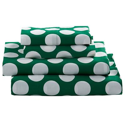 Queen Later Gator Sheet Set (Green w/White Dot)