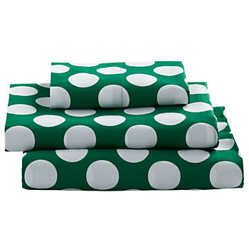 Twin Later Gator Sheet Set (Green w/White Dot)