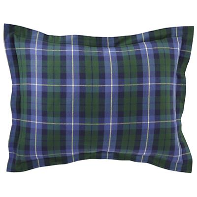 Northwoods Flannel Sham (Blue Plaid)