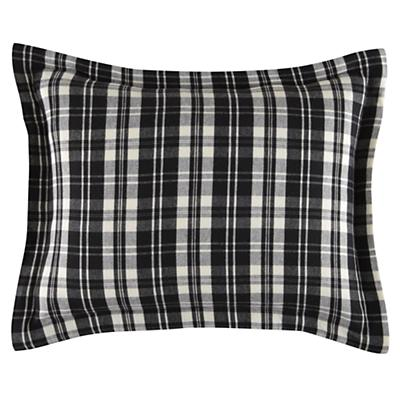 Northwoods Flannel Sham (Black Plaid)
