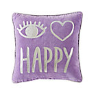 I Heart Happy Throw Pillow Cover.
