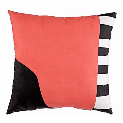 Abstract Throw Pillow (Pink)