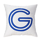 "Blue ""G"" Bright Letter Throw Pillow"