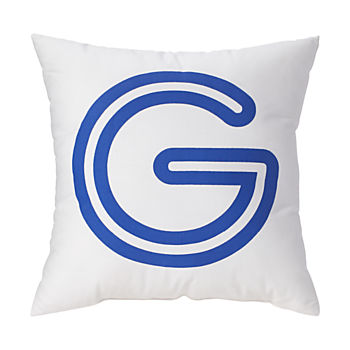 'G' Bright Letter Throw Pillow