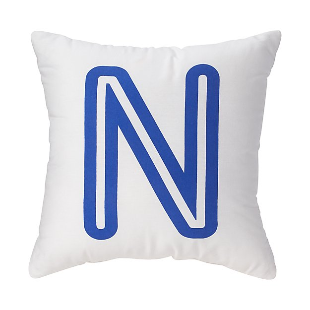 'N' Bright Letter Throw Pillow