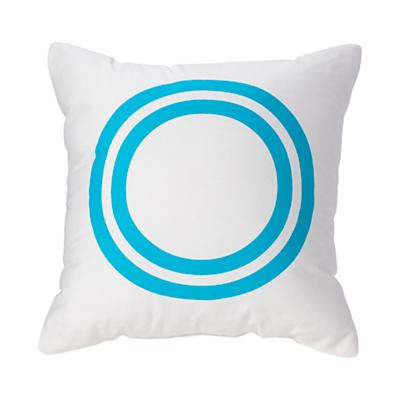 'O' Bright Letter Throw Pillow