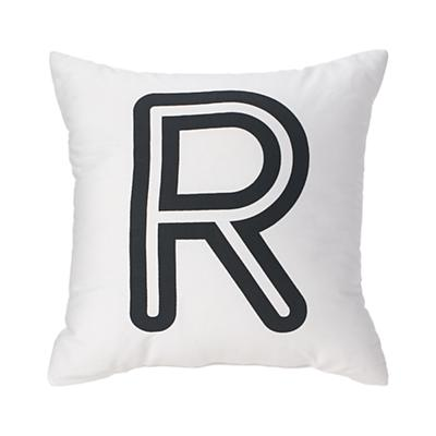 'R' Bright Letter Throw Pillow