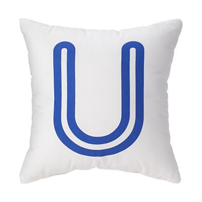 'U' Bright Letter Throw Pillow