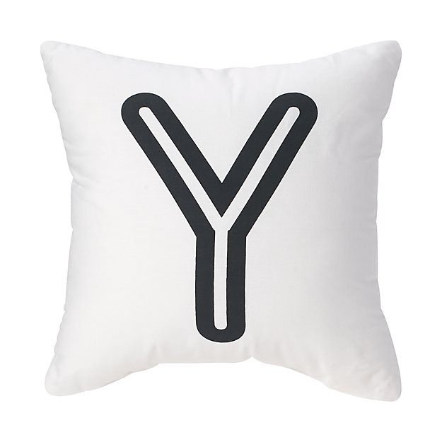 'Y' Bright Letter Throw Pillow
