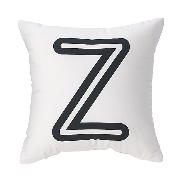 'Z' Bright Letter Throw Pillow