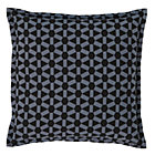 Grey Geo Grid Throw Pillow Set