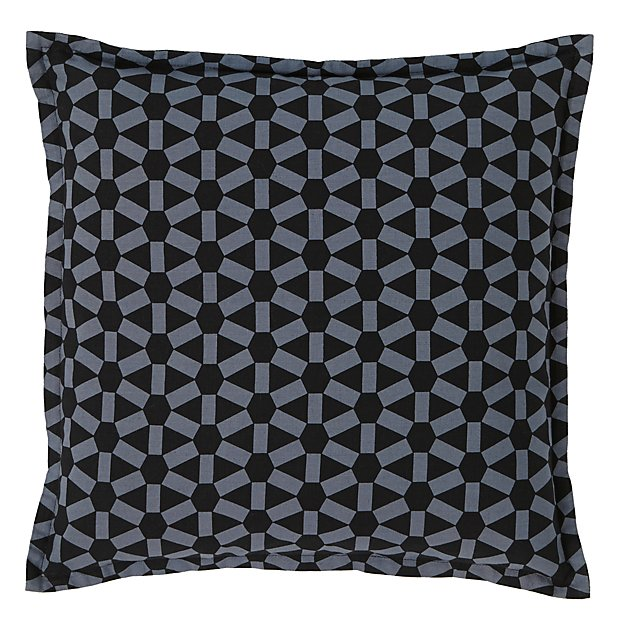 Geo Grid Throw Pillow