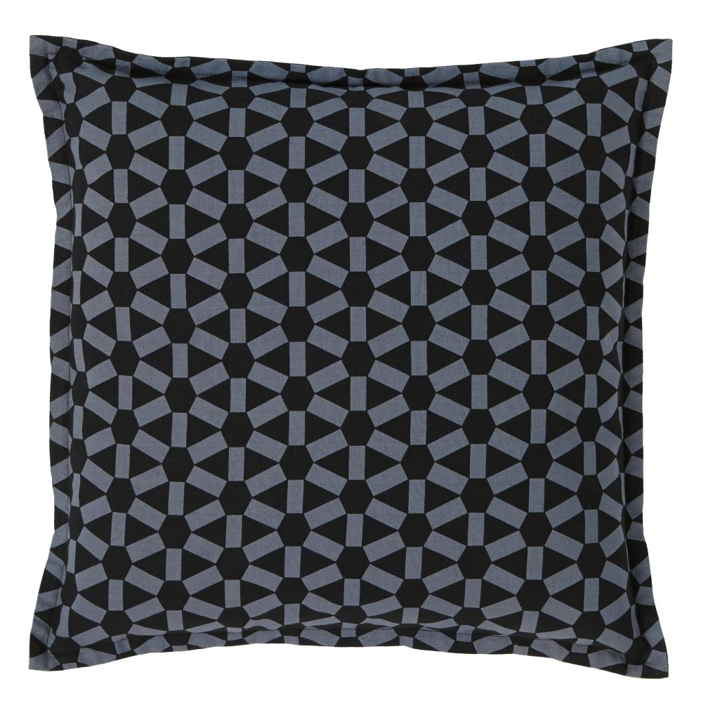 Geo Grid Throw Pillow Cover