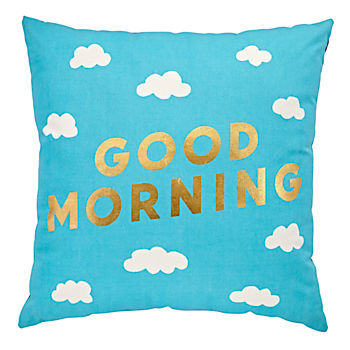 Good Morning/Night Throw Pillow