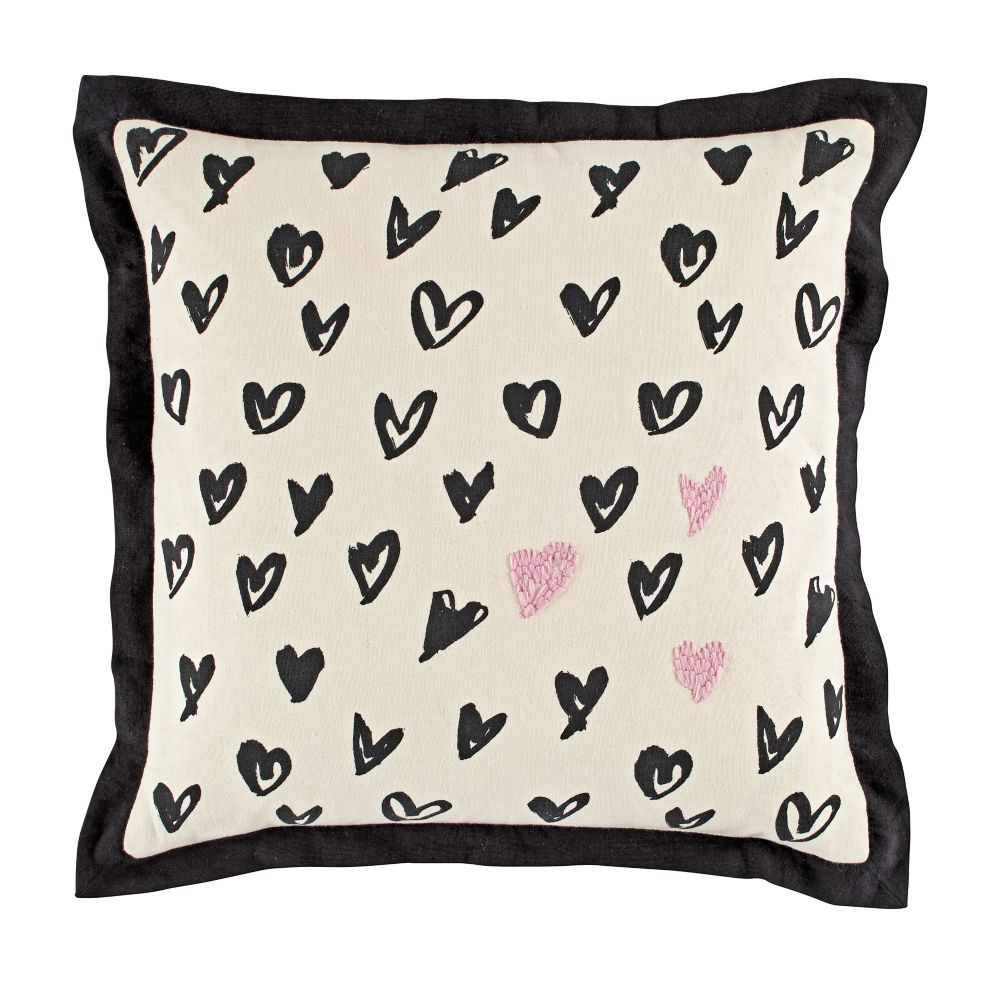 Heart Sketch Throw Pillow Cover