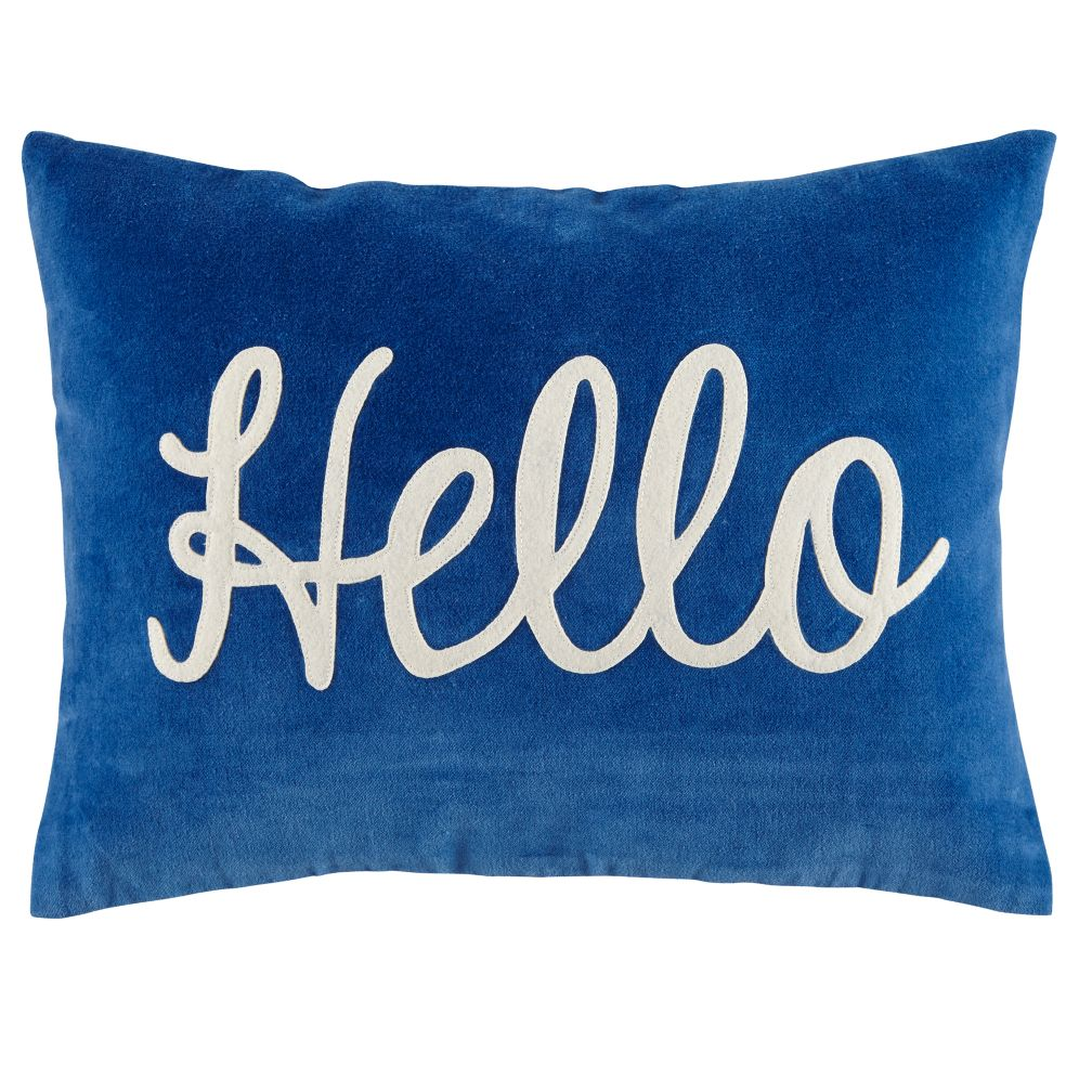 hello throw pillow  the land of nod -
