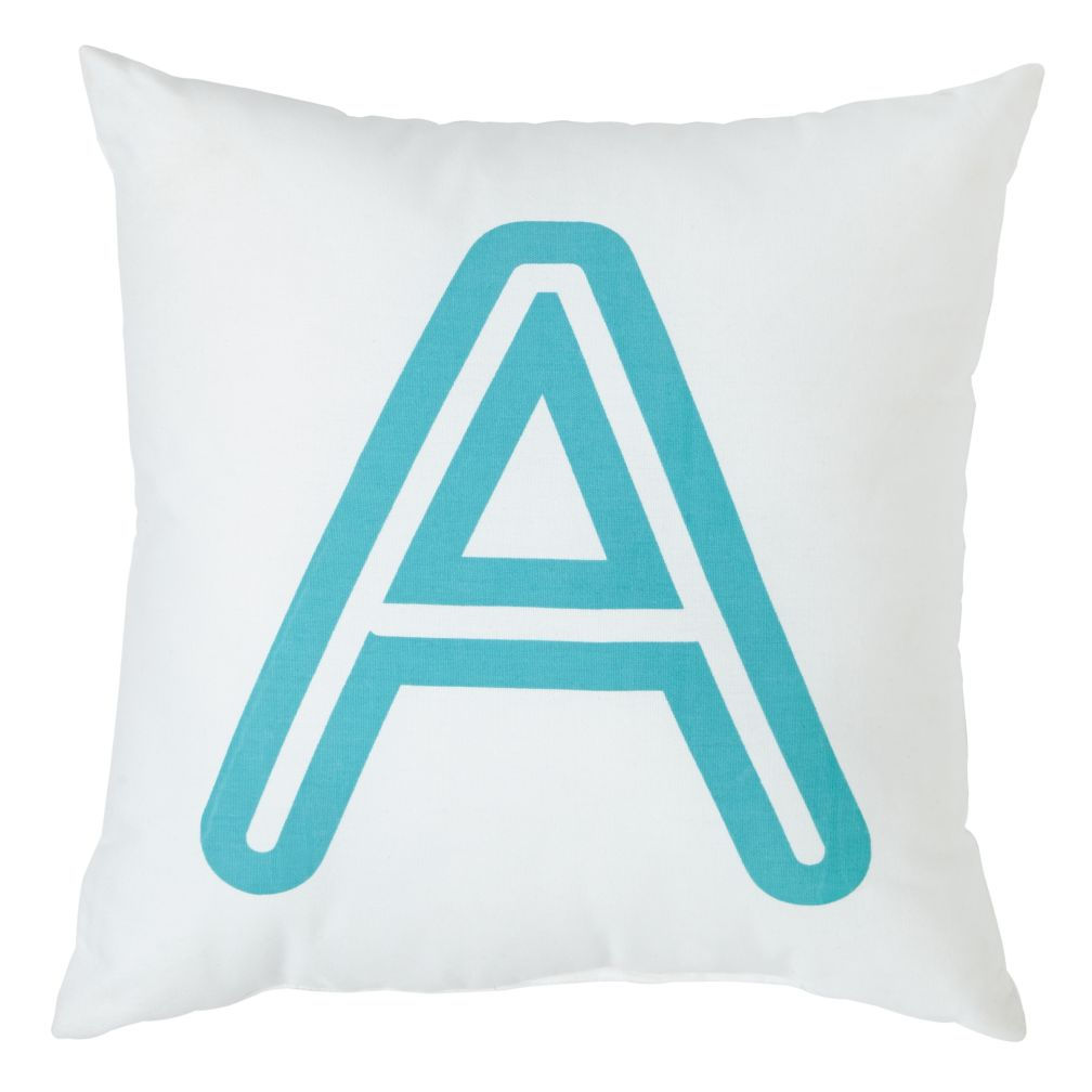 'A' Bright Letter Throw Pillow