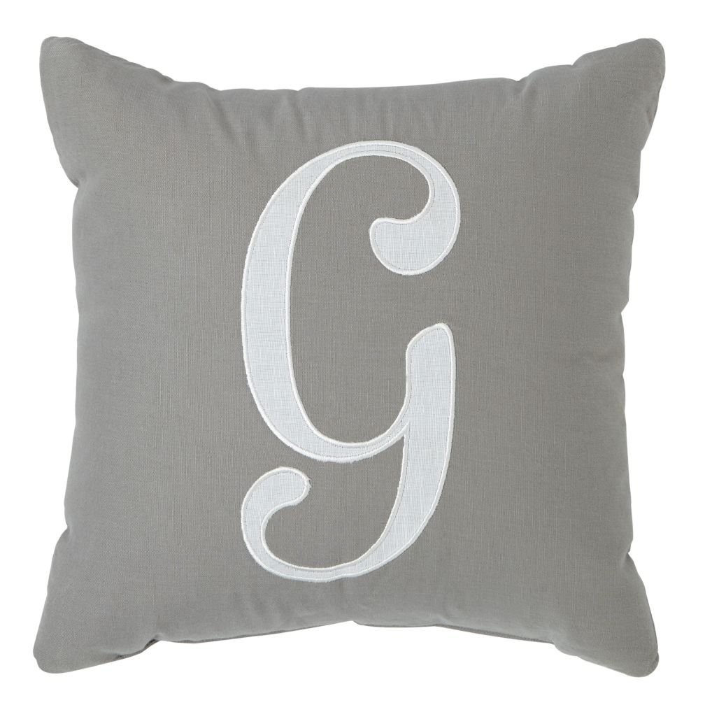 'G' Typeset Throw Pillow
