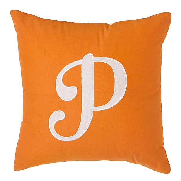 'P' Typeset Throw Pillow