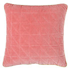 Pink Quilted Throw Pillow