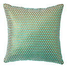 Aqua Scallop Throw Pillow