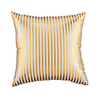 Gold Pinstripe Pillow
