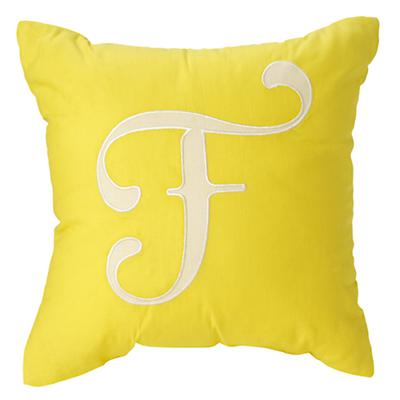 'F' Typeset Throw Pillow