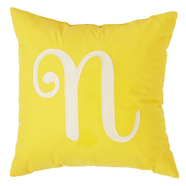 'N' Typeset Throw Pillow