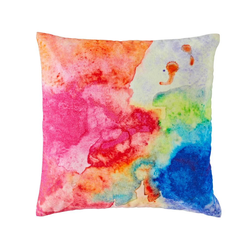 Multi Velvet Throw Pillow