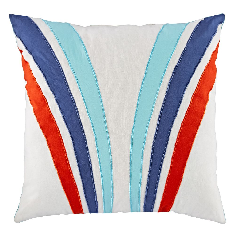 Pit Crew Stripe Throw Pillow