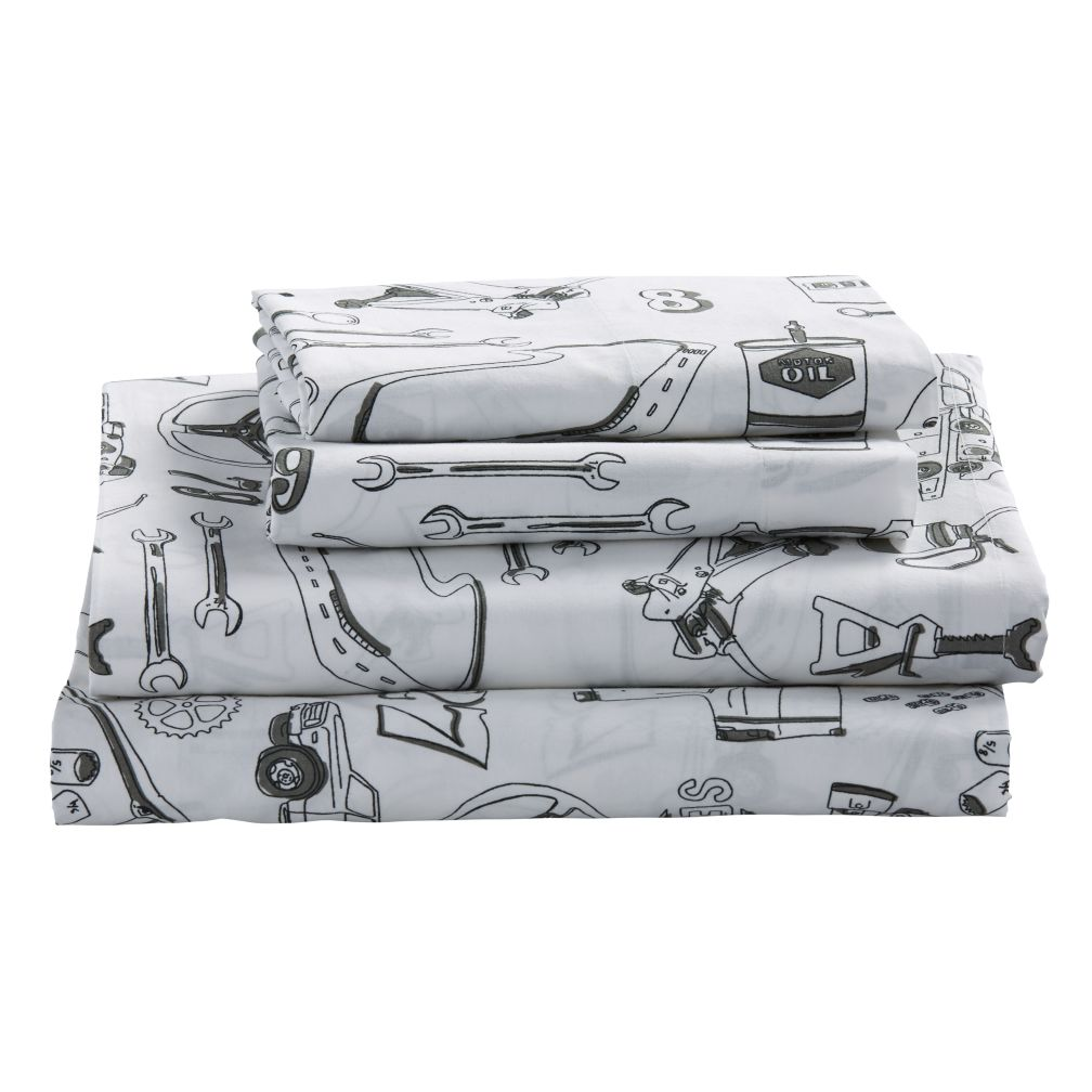 Organic Pit Crew Full Sheet Set