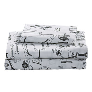 Organic Pit Crew Twin Sheet Set