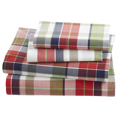 Full Blue Pick Your Plaid Sheet Set