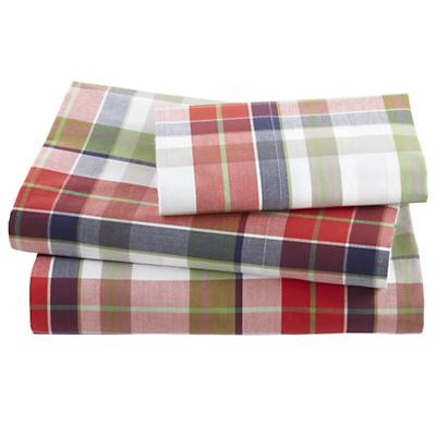 Twin Blue Pick Your Plaid Sheet Set