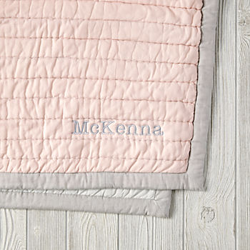 Personalized Cotton Candy Quilt (Pink)