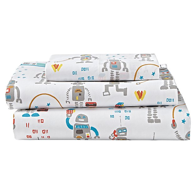 Organic Rad Robot Twin Sheet Set