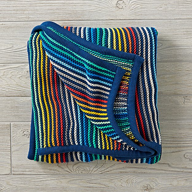 Rainbow Blend Knit Blanket
