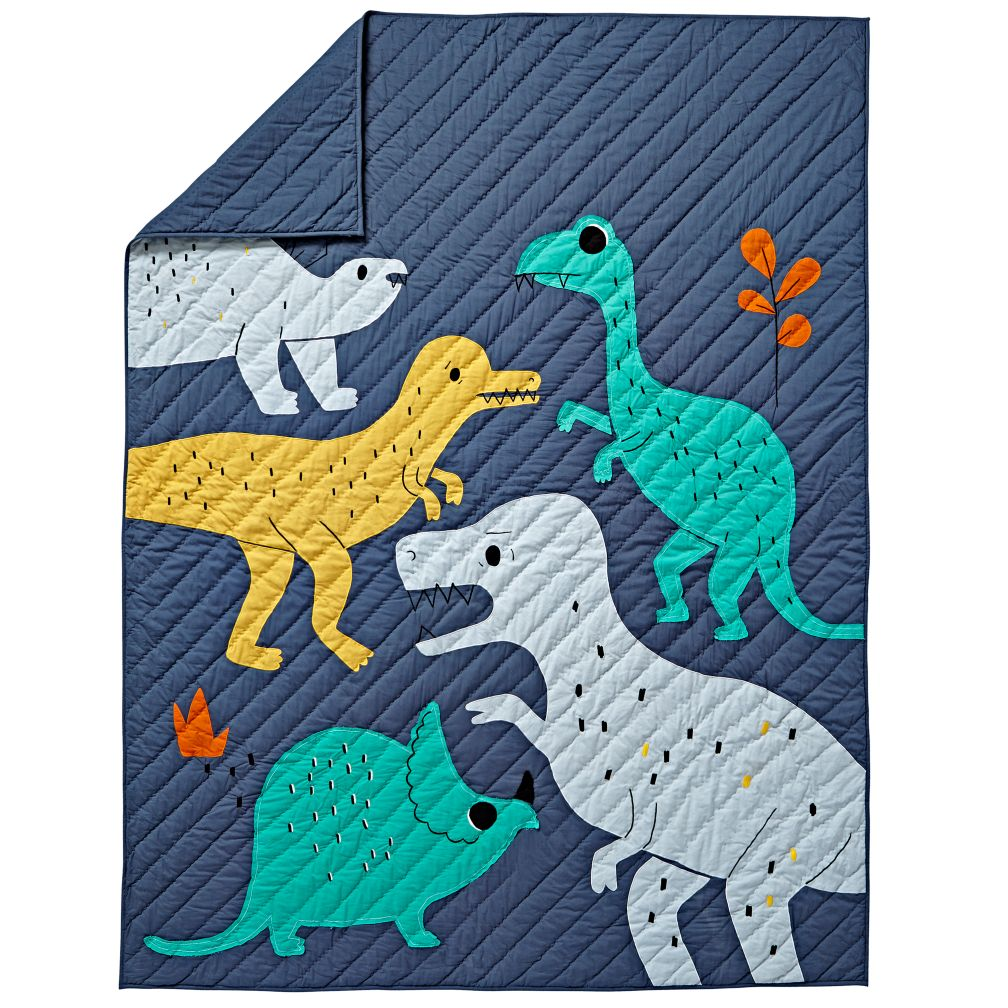 Full-Queen Retro Reptile Quilt