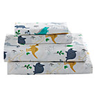 Organic Retro Reptile Twin Sheet Set