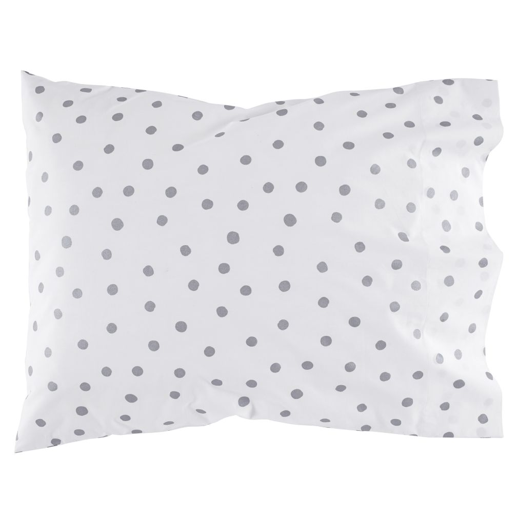 Silver Dot Pillowcase