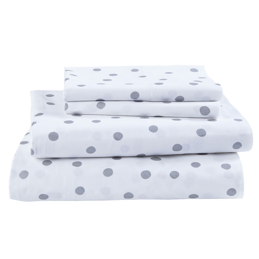 Queen Silver Dot Sheet Set